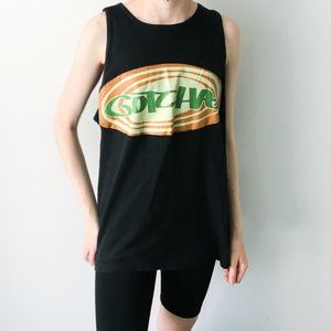 Gotcha Graphic Tank Top Sleeveless USA Black M